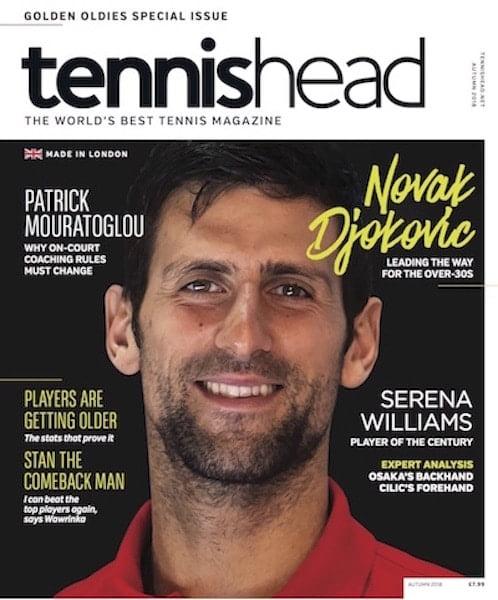 Tennishead magazine, October 2018, NEW ISSUE