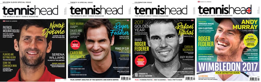 Tennishead magazine brings you the very best tennis articles, interviews with the great players, tennis gear and racket reviews, tennis coaching tips plus much more
