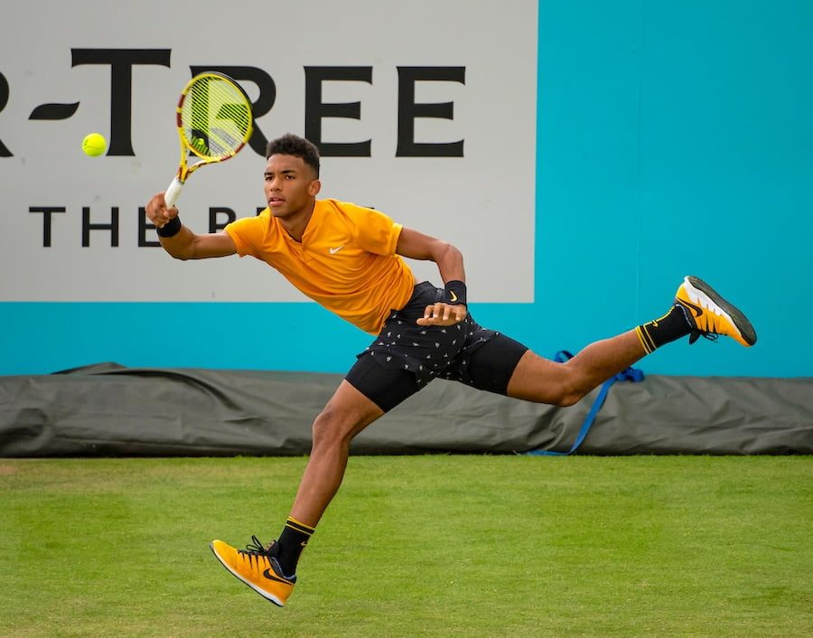 Felix Auger-Aliassime Queens Club grass
