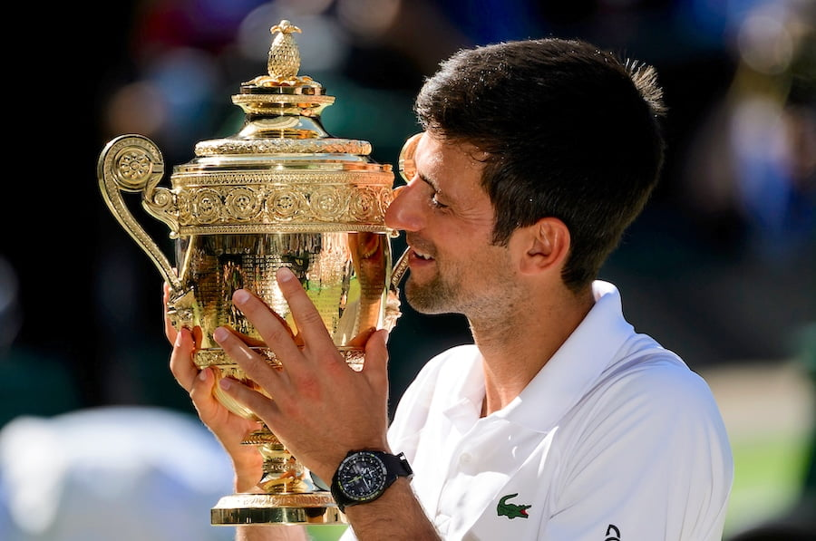 Novak Djokovic Wimbledon Champion 2018