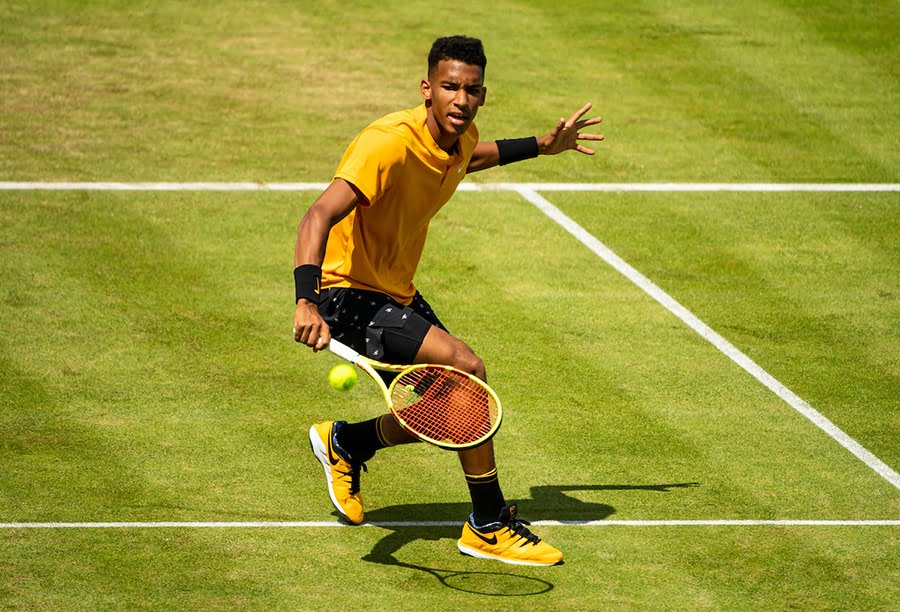 Felix Auger-Aliassime backhand at Queens