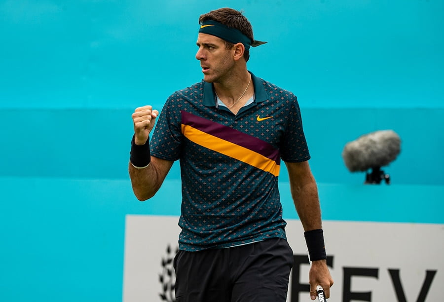 Juan Martin del Potro fist pump at Queens