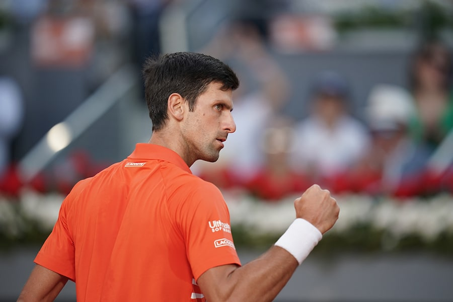 Novak Djokovic fist pump
