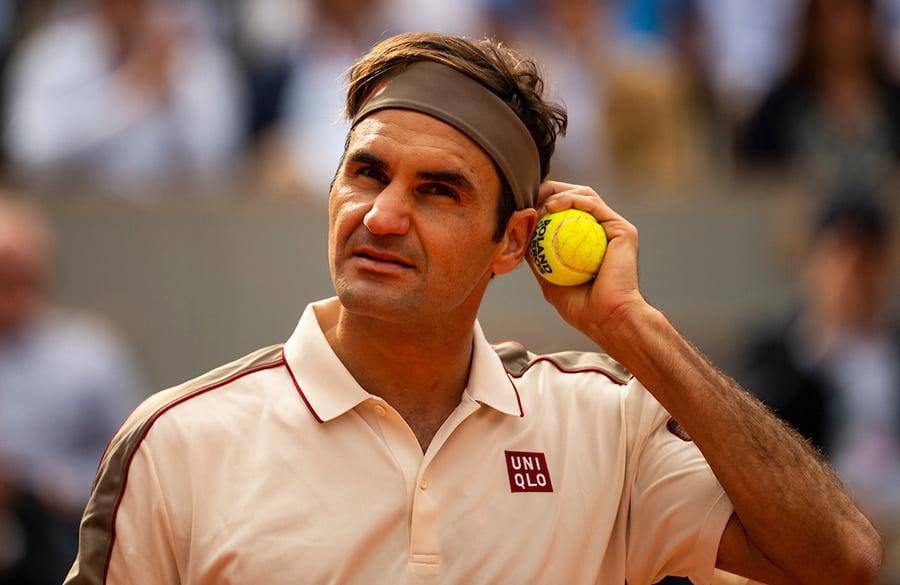 Roger Federer pensive