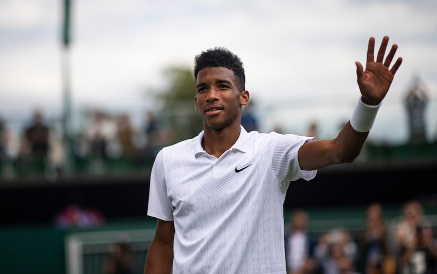 Felix Auger-Aliassime waves goodbye to Wimbledon 2019