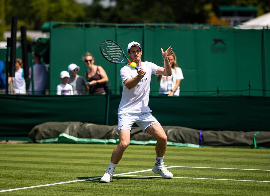 Andy Murray forehand practice