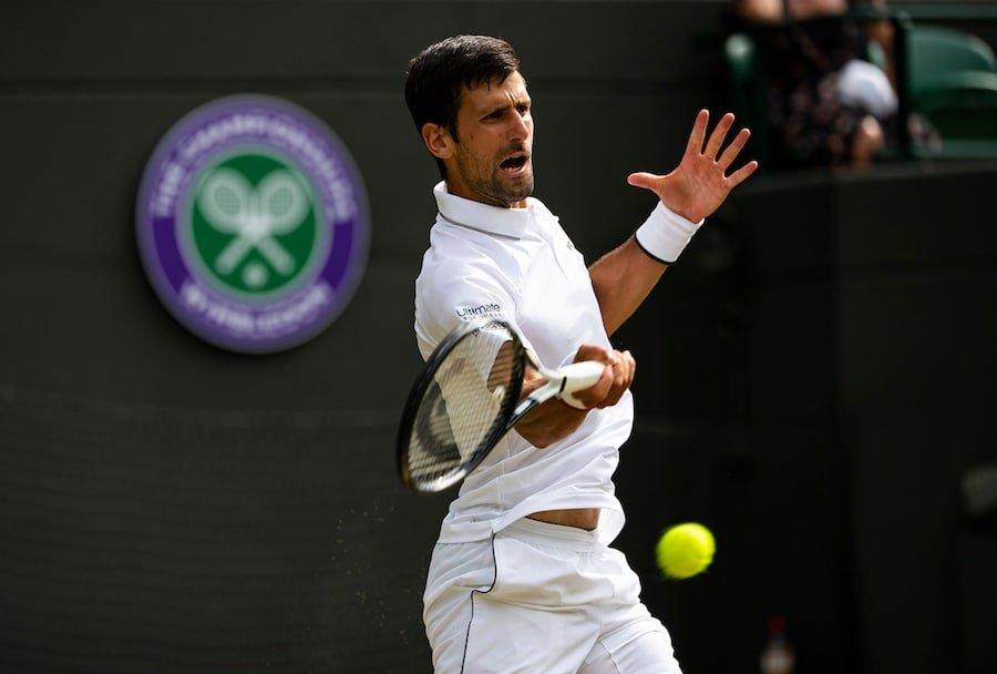 Novak Djokovic Wimbledon 2019 forehand