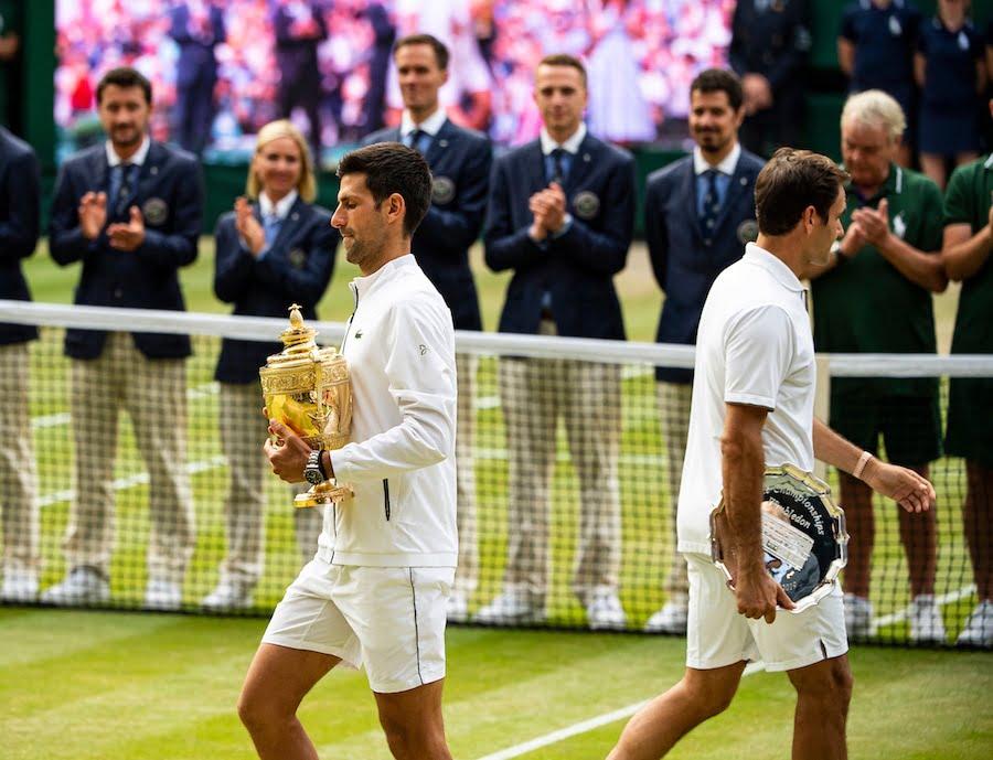 Novak Djokovic Roger Federer Wimbledon 2019