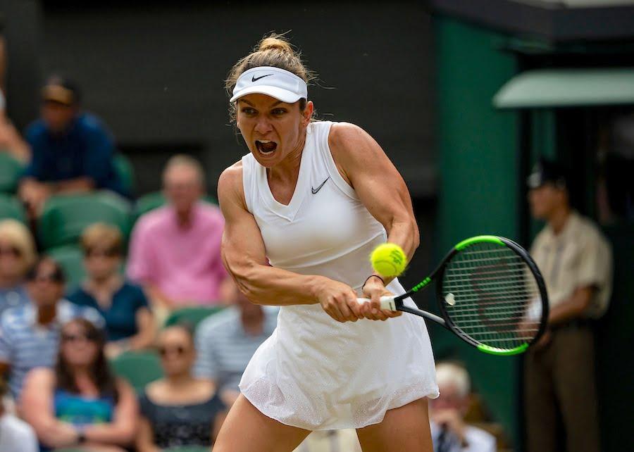 Simona Halep battles through to the 4th round at Wimbledon 2019