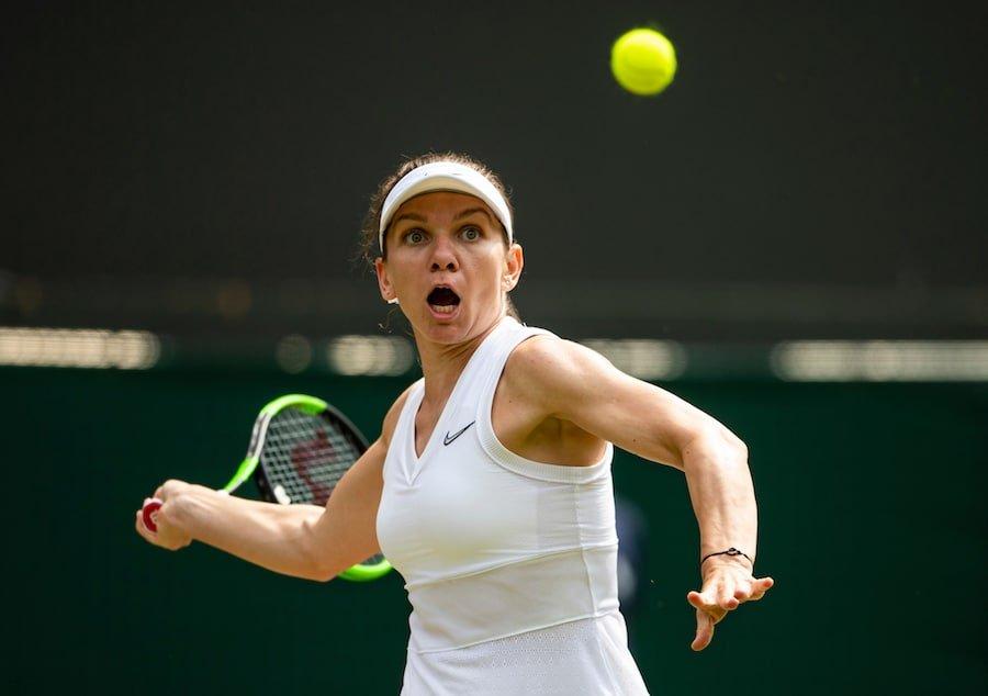 Simona Halep Wimbledon 2019 forehand