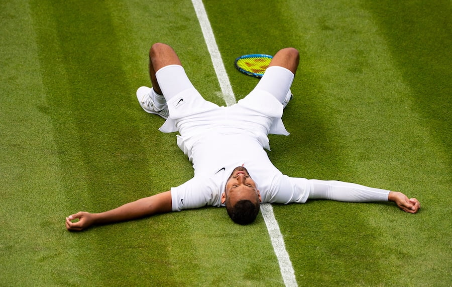 Nick Kyrgios seemed to give it his all at Wimbledon 2019