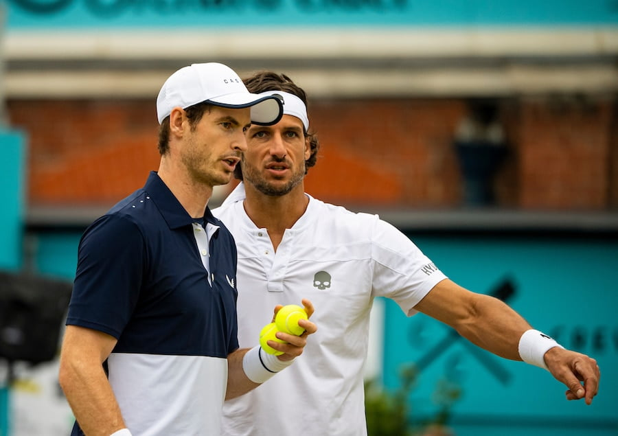 Feliciano Lopez Andy Murray Queens Club doubles grass 2019