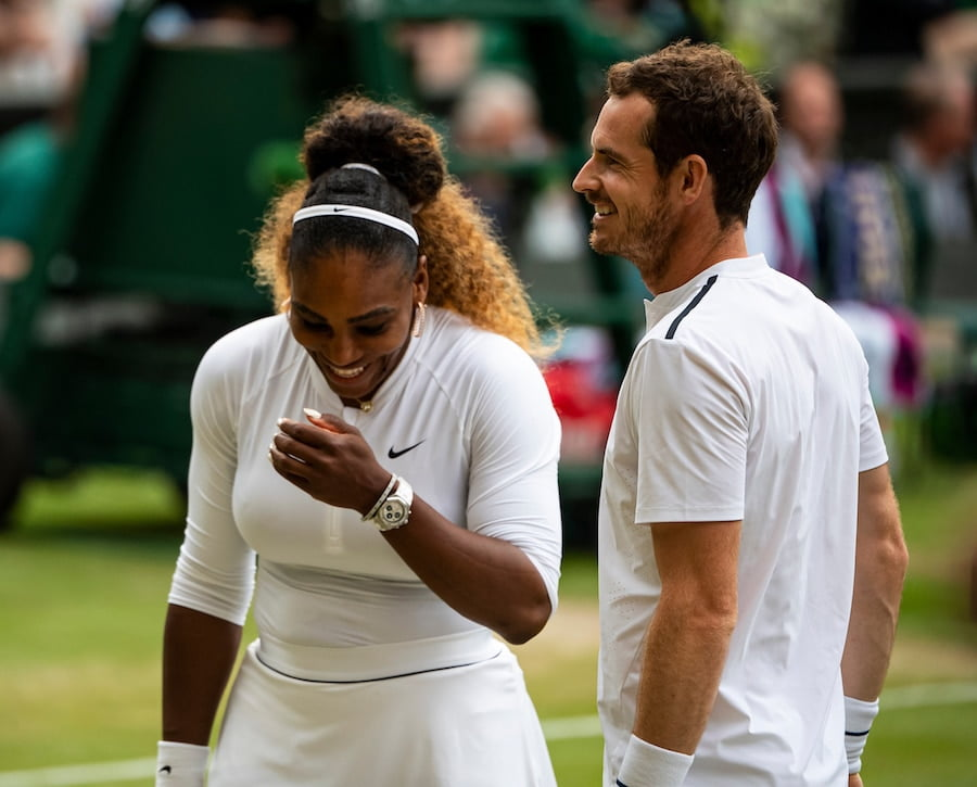 Andy Murray and Serena Williams have teamed up in the mixed doubles at Wimbledon 2019