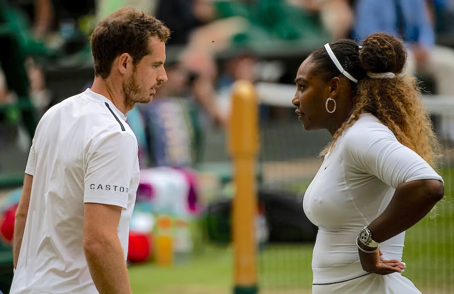 Andy Murray Serena Williams Wimbledon 2019