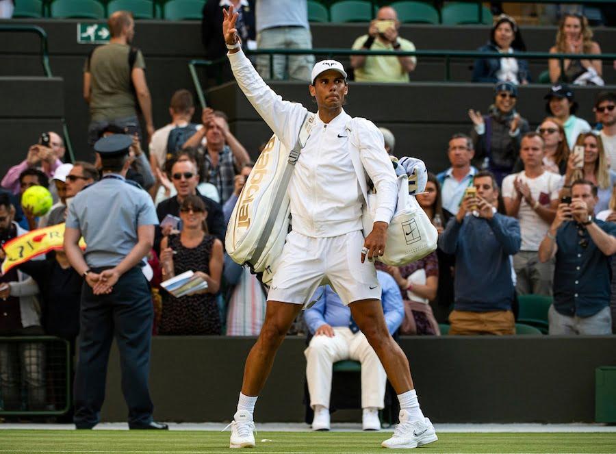 Rafa Nadal Wimbledon 2019 leaves court
