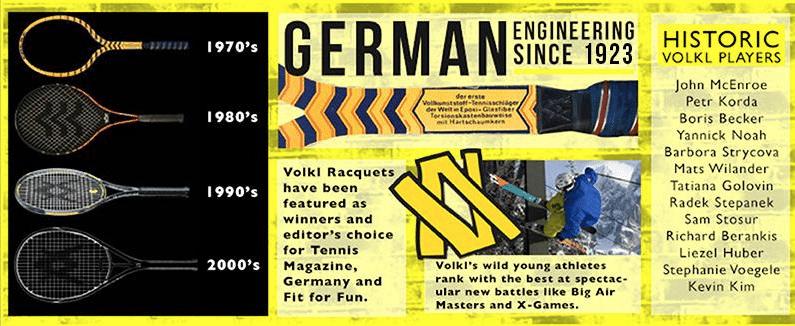 Volkl tennis history