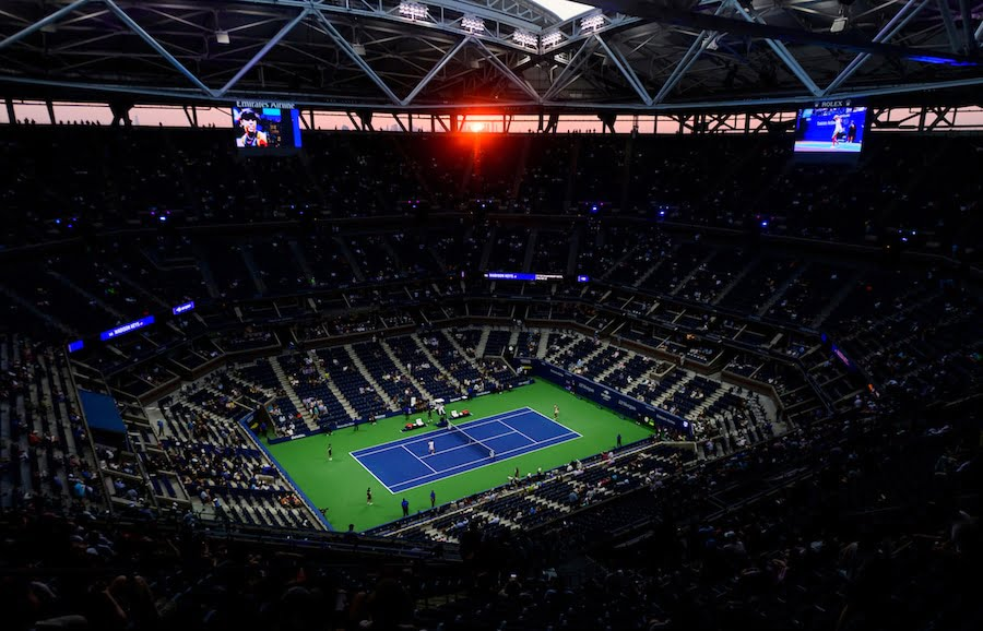 US Open tennis Arthur Ashe stadium