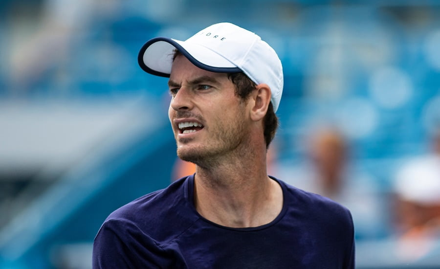 Andy Murray practice in Cincinnati