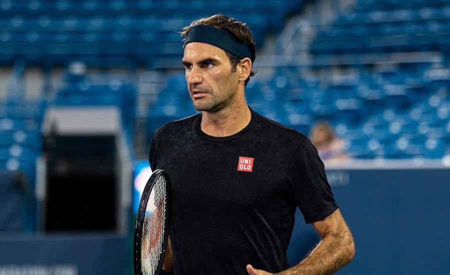 Roger Federer practises at Cincinnati 2019