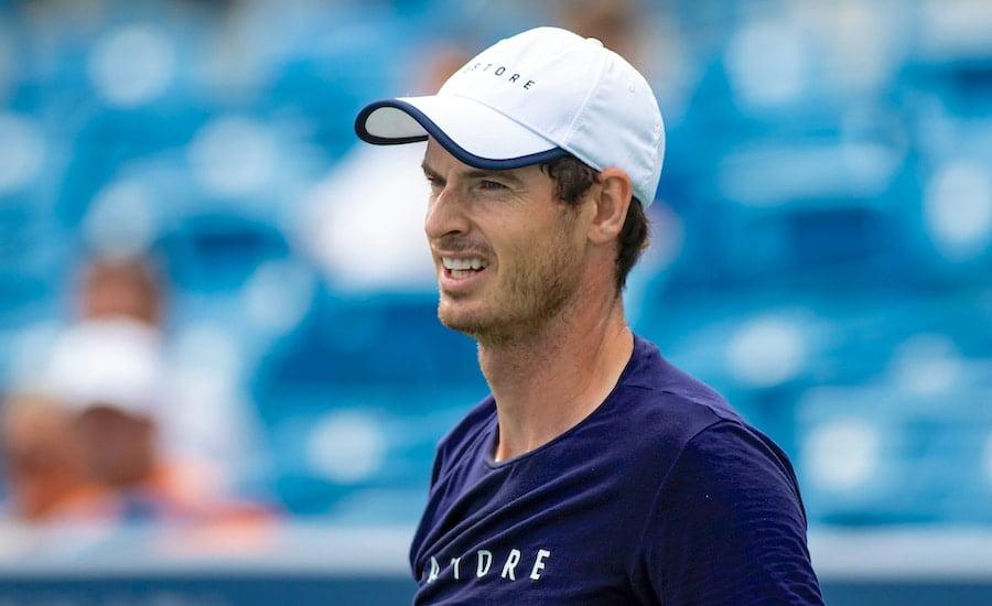 Andy Murray practises at Cincinnati 2019
