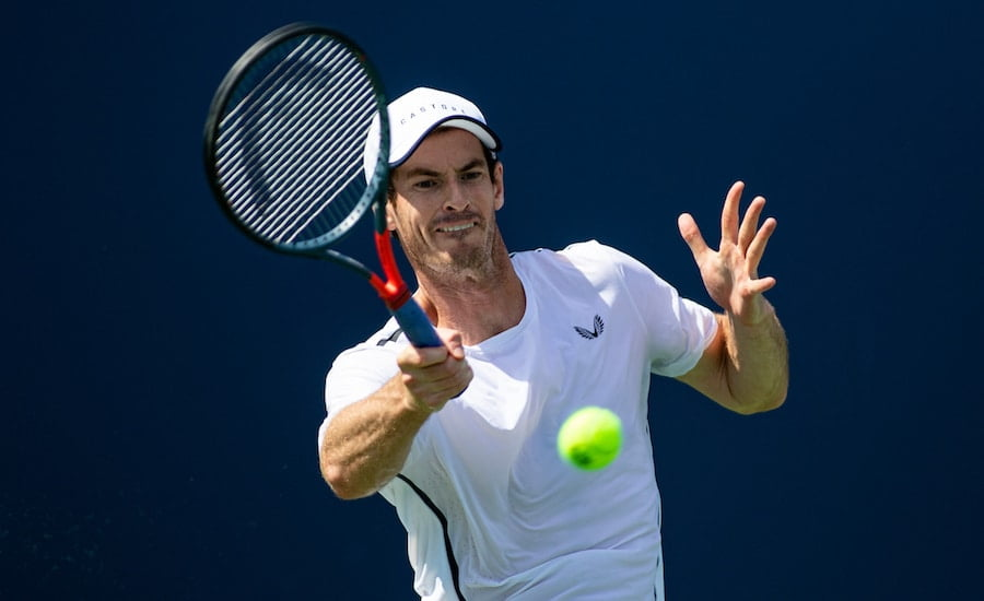 Andy Murray hits forehand at Cincinnati 2019.jpg