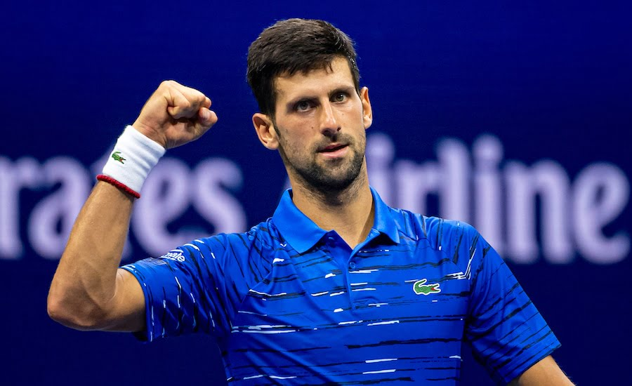 Novak Djokovic US Open 2019 punches air