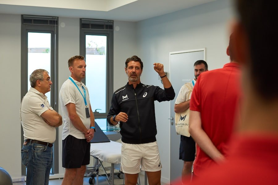 Mouratoglou in the recovery centre of his academy