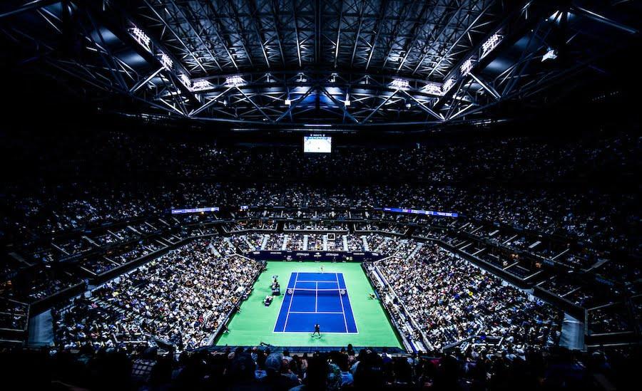 US Open stadium at night 2019