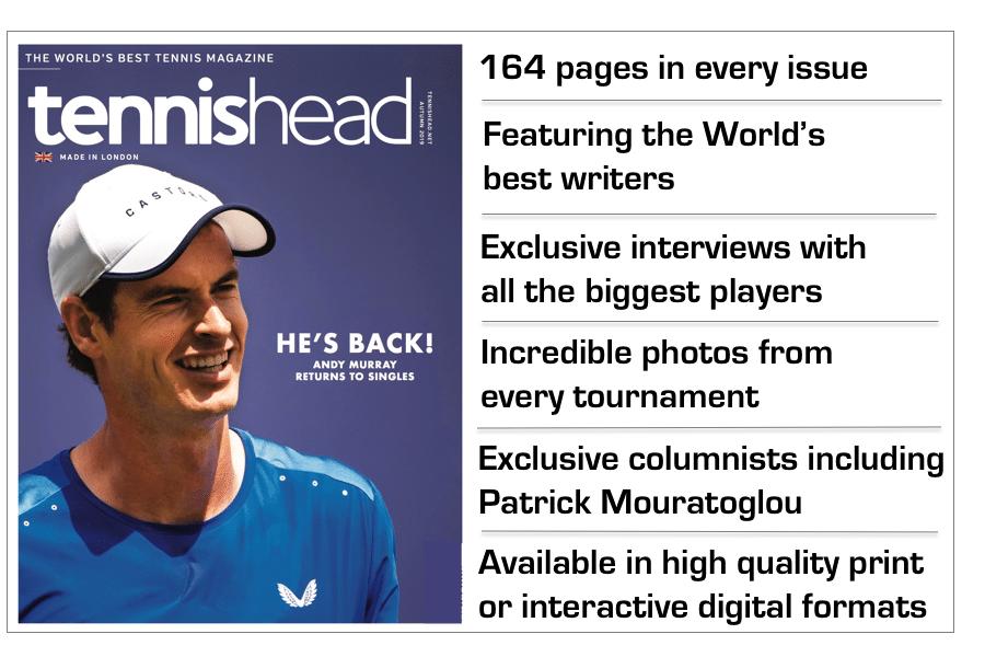 tennishead magazine benefits