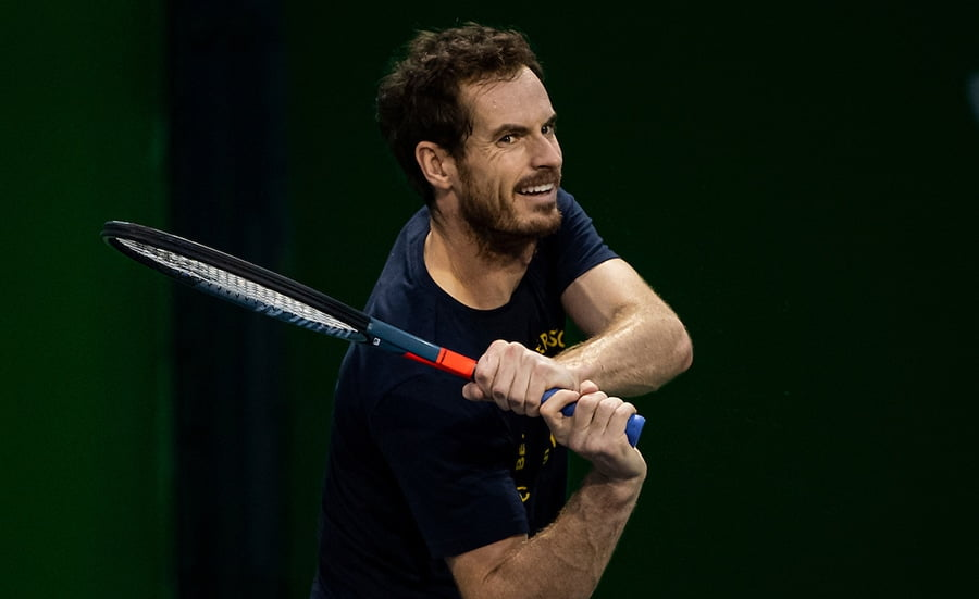 Andy Murray at Shanghai practice