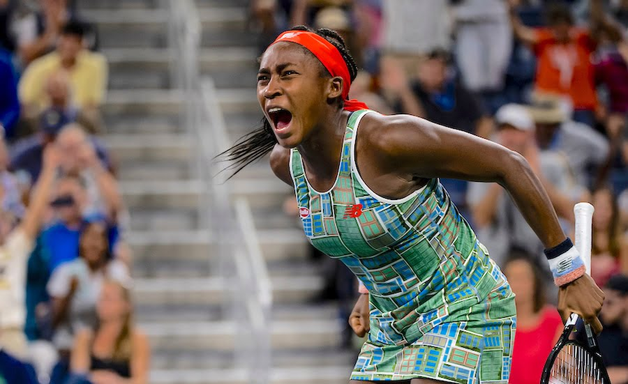 Coc Gauff screams at the US Open 2019