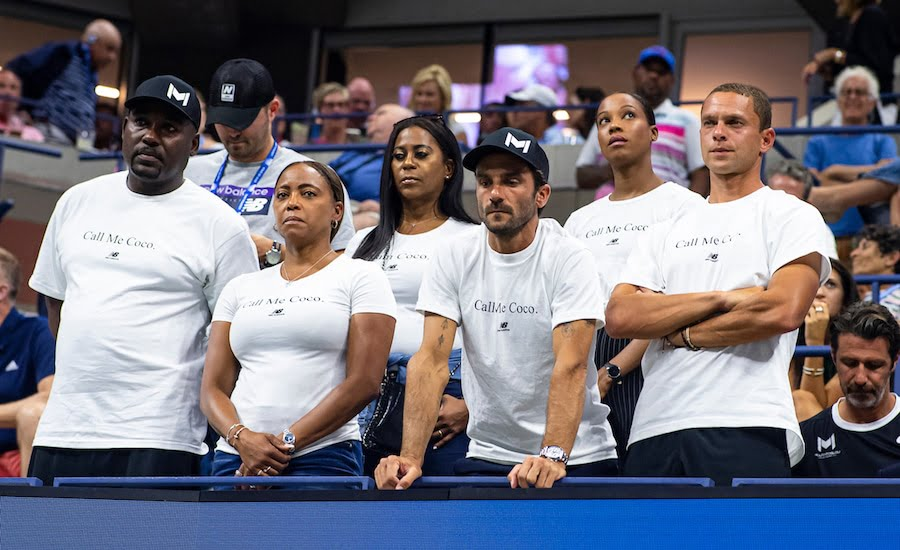 Coco Gauff team at US Open