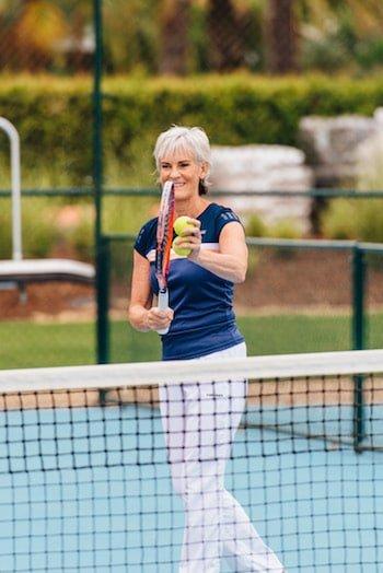 Judy Murray has fun coaching at The Campus