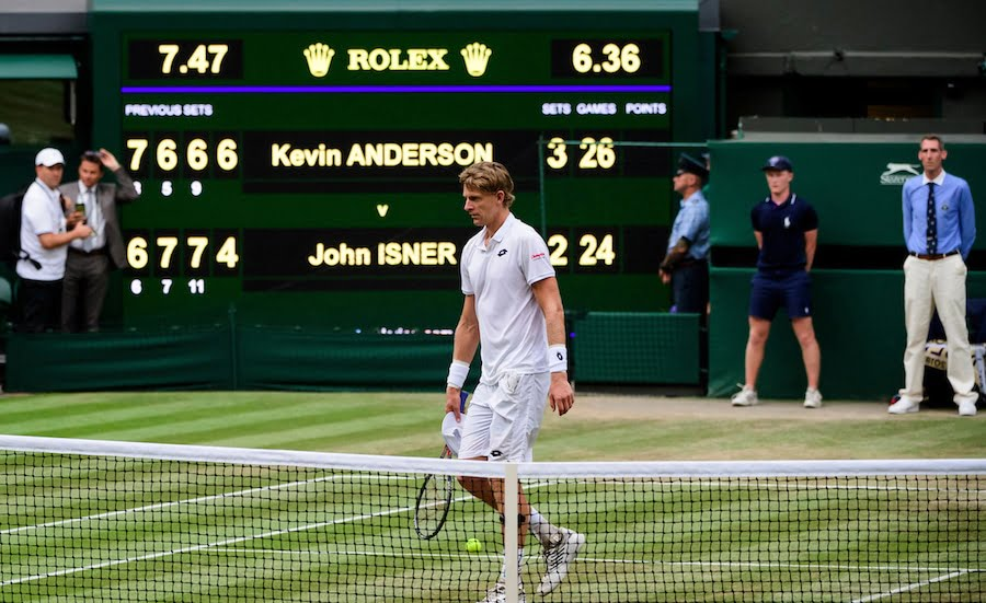 Kevin Anderson wins 26-24 in 5th set against John Isner at Wimbledon