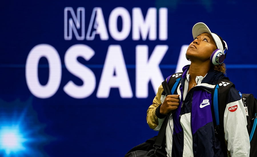 Naomi Osaka entrance at the US Open