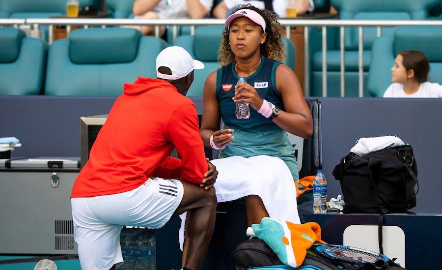 Naomi Osaka is coached at Miami