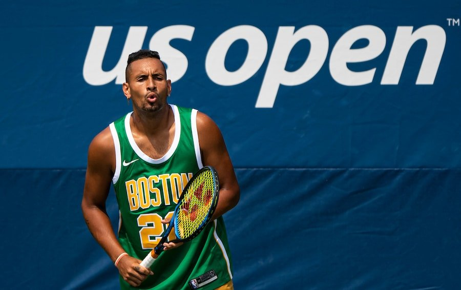 Nick Kyrgios jokes at US open 2019