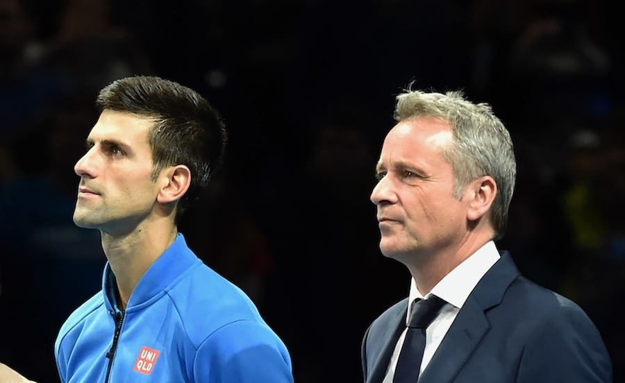 Novak Djokovic and ATP CEO Chris Kermode