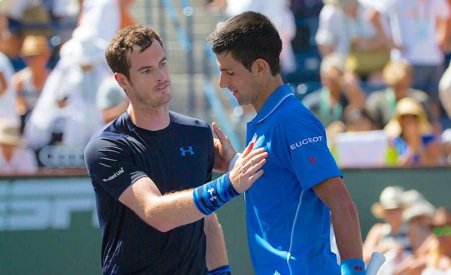 Novak Djokovic and Andy Murray after match