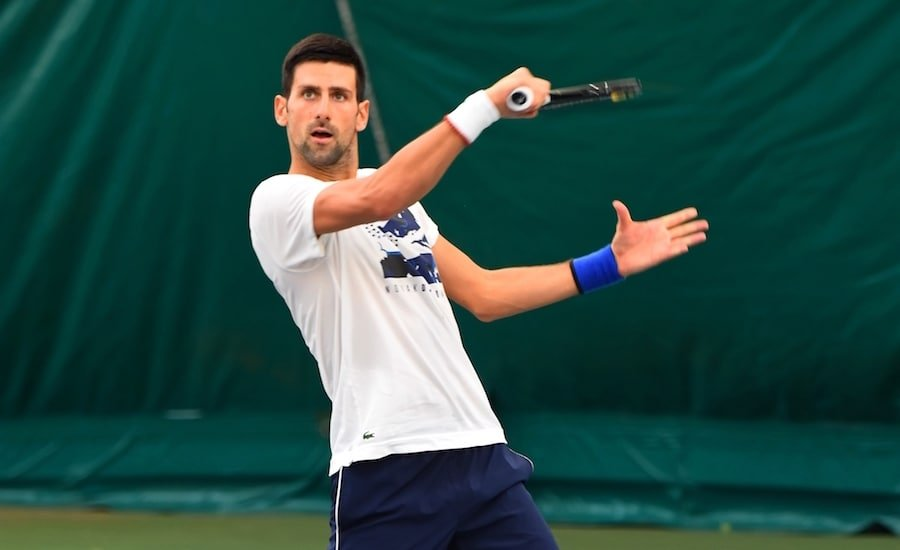 Novak Djokovic backhand volley Mouratoglou Academy