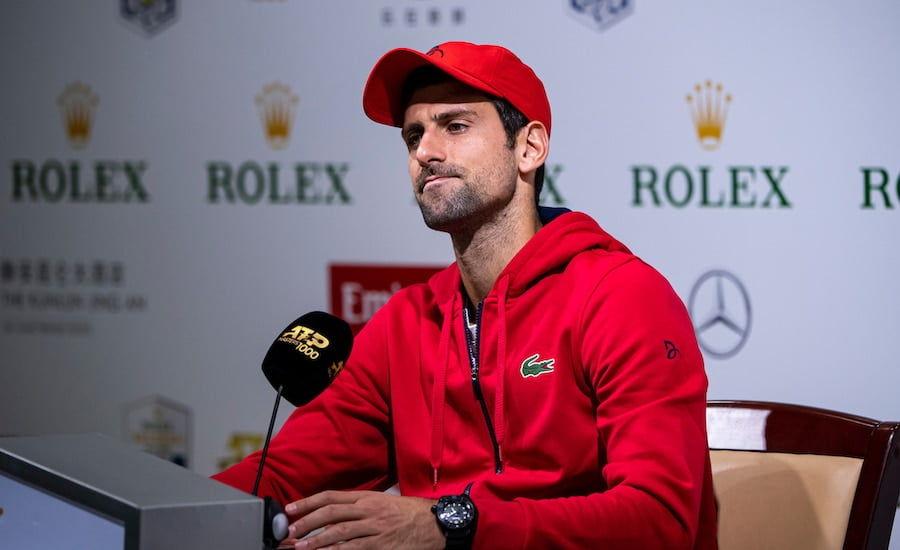 Novak Djokovic press conference Shanghai 2109