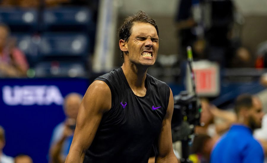Rafa Nadal clenches teeth in anguish at 2019 US Open.jpg