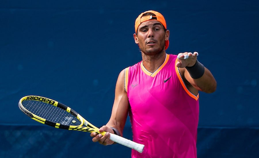 Rafa Nadal practises at US Open 2019