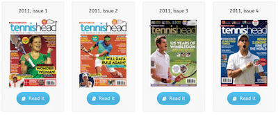 tennishead magazine archive