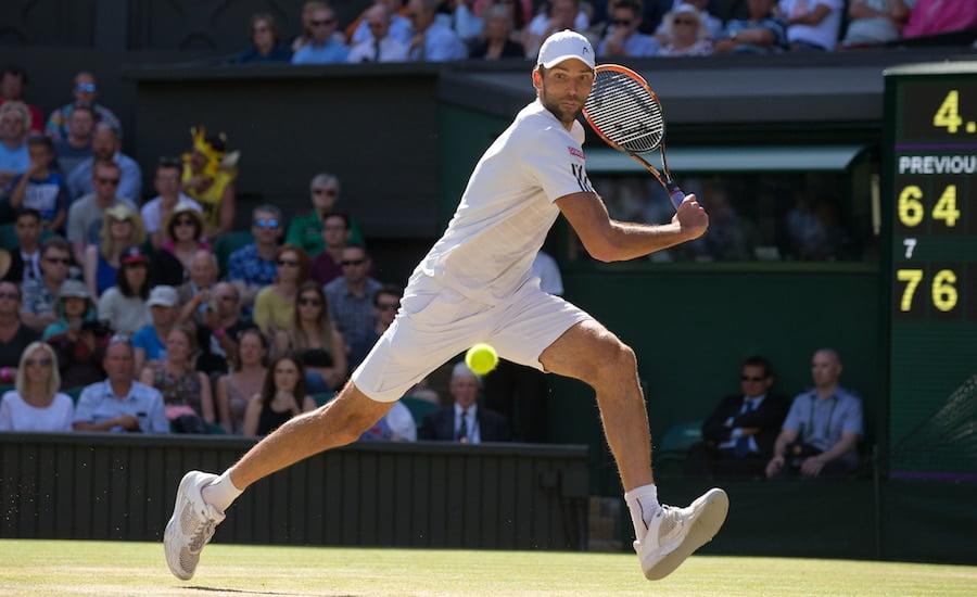 Ivo Karlovic backhand Wimbledon