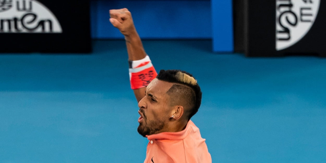 Nick Kyrgios at the 2020 Australian Open
