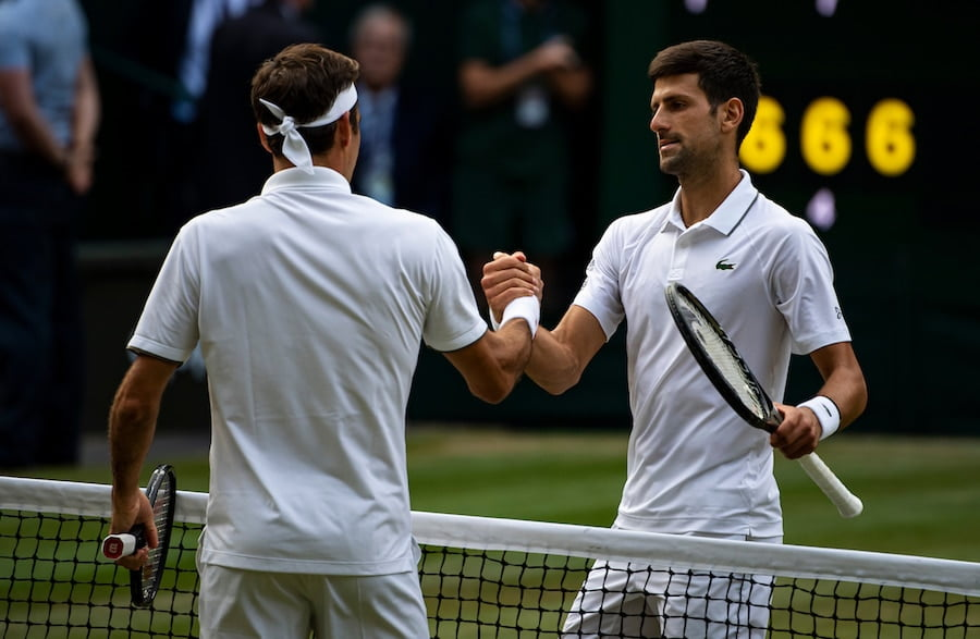 Novak Djokovic Roger Federer Wimbledon 2019 watch ATP tennis on TV in 2020