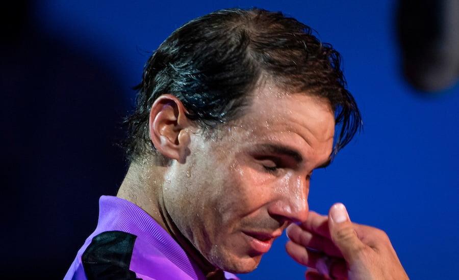 Rafa Nadal cries after winning US Open 2019