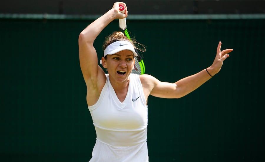 Simona Halep forehand Wimbledon 2019