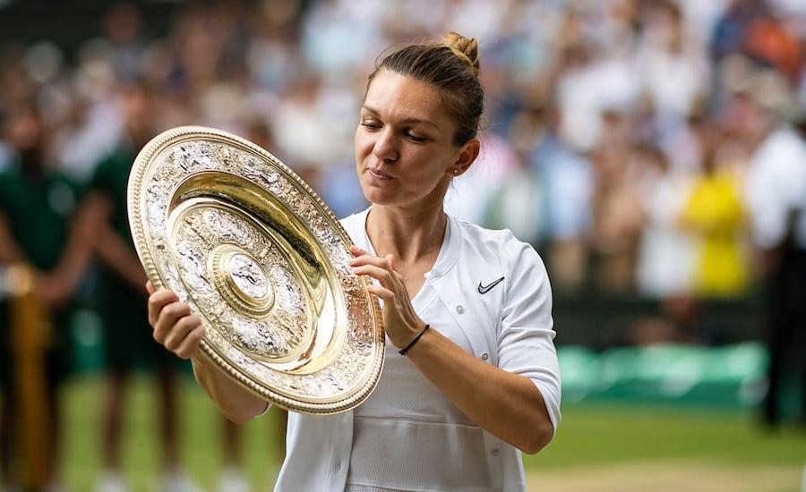Simona Halep winning Wimbledon 2019